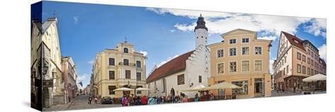 Buildings in a City, Tallinn, Estonia--Stretched Canvas Print