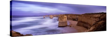 Rock Formations in the Sea, Twelve Apostles Sea Rocks, Great Ocean Road--Stretched Canvas Print