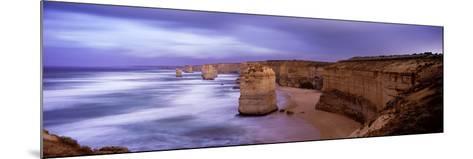 Rock Formations in the Sea, Twelve Apostles Sea Rocks, Great Ocean Road--Mounted Photographic Print