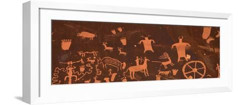 Detail of Ancient Petroglyphs Newspaper Rock Utah USA--Framed Art Print