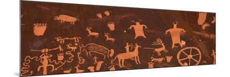 Detail of Ancient Petroglyphs Newspaper Rock Utah USA--Mounted Photographic Print
