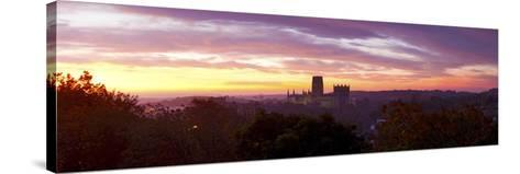 Durham Cathedral View from Wharton Park at Sunrise, Durham, County Durham, England--Stretched Canvas Print