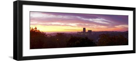 Durham Cathedral View from Wharton Park at Sunrise, Durham, County Durham, England--Framed Art Print