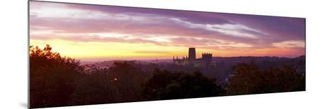Durham Cathedral View from Wharton Park at Sunrise, Durham, County Durham, England--Mounted Photographic Print