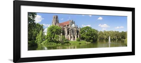 Church at the Waterfront, Johanneskirche, Feuersee, Stuttgart, Baden-Wurttemberg, Germany--Framed Art Print