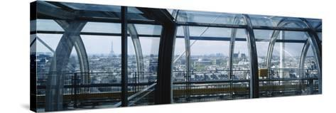 Elevated Walkway in a Museum, Pompidou Centre, Beauborg, Paris, France--Stretched Canvas Print