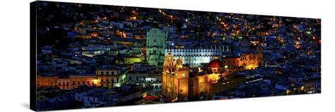 High Angle View of a City, Basilica of Our Lady of Guanajuato, University of Guanajuato--Stretched Canvas Print