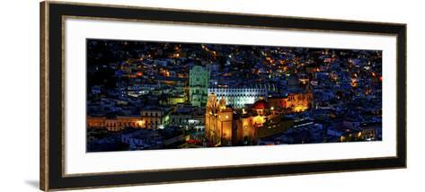 High Angle View of a City, Basilica of Our Lady of Guanajuato, University of Guanajuato--Framed Art Print