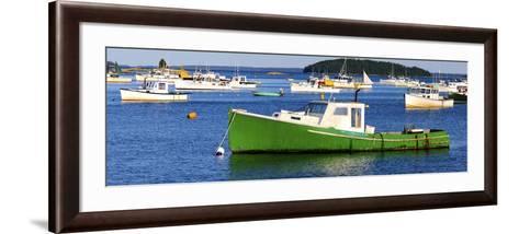Fishing Boats in the Sea, Stonington, Hancock County, Maine, USA--Framed Art Print
