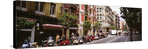 Street Scene Barcelona Spain--Stretched Canvas Print