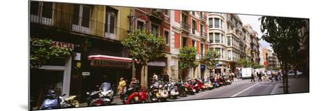 Street Scene Barcelona Spain--Mounted Photographic Print