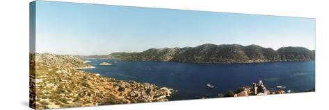 Mediterranean Sea Viewed from the Byzantine Castle, Kekova, Lycia, Antalya Province, Turkey--Stretched Canvas Print