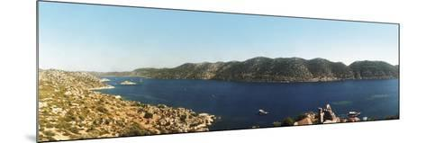 Mediterranean Sea Viewed from the Byzantine Castle, Kekova, Lycia, Antalya Province, Turkey--Mounted Photographic Print