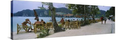 Restaurant on the Beach, Ko Phi Phi Don, Phi Phi Islands, Thailand--Stretched Canvas Print