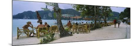 Restaurant on the Beach, Ko Phi Phi Don, Phi Phi Islands, Thailand--Mounted Photographic Print