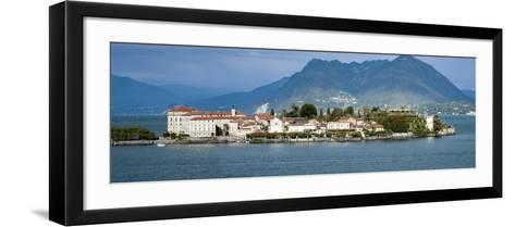 Isola Bella Seen from Ferry, Borromean Islands, Lake Maggiore, Piedmont, Italy--Framed Art Print