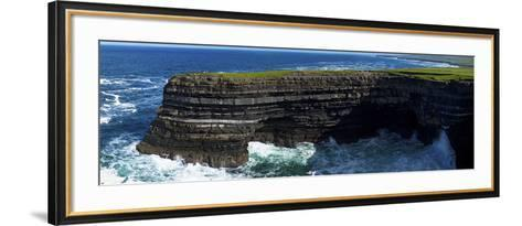 Distant Sea Anglers on Downpatrick Head, County Mayo, Republic of Ireland--Framed Art Print