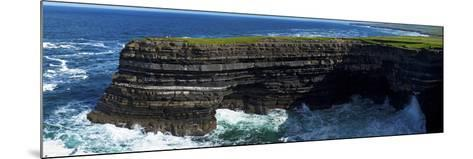 Distant Sea Anglers on Downpatrick Head, County Mayo, Republic of Ireland--Mounted Photographic Print