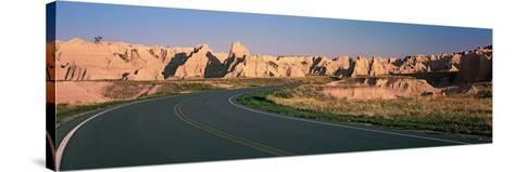 Road Passing Through Mountains, Badlands National Park, South Dakota, USA--Stretched Canvas Print