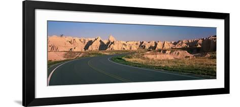 Road Passing Through Mountains, Badlands National Park, South Dakota, USA--Framed Art Print