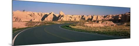 Road Passing Through Mountains, Badlands National Park, South Dakota, USA--Mounted Photographic Print