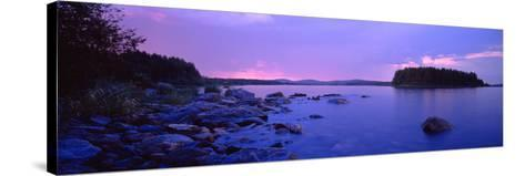 Rocks in a Lake, Lake Pielinen, North Karelia, Finland--Stretched Canvas Print