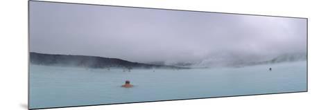 Tourist Swimming in a Thermal Pool, Blue Lagoon, Reykjanes Peninsula, Reykjavik, Iceland--Mounted Photographic Print