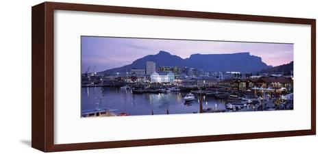 Boats at a Harbor, Victoria and Alfred Waterfront, Table Mountain, Cape Town--Framed Art Print