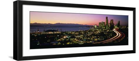 Sunset Skyline Seattle Wa USA--Framed Art Print
