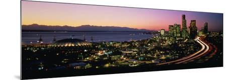 Sunset Skyline Seattle Wa USA--Mounted Photographic Print