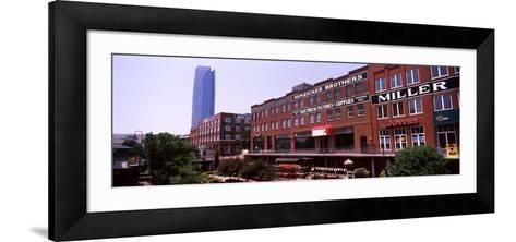 Bricktown Mercantile Building Along the Bricktown Canal with Devon Tower in Background--Framed Art Print