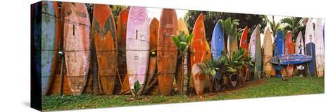 Arranged Surfboards, Maui, Hawaii, USA--Stretched Canvas Print