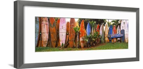 Arranged Surfboards, Maui, Hawaii, USA--Framed Art Print