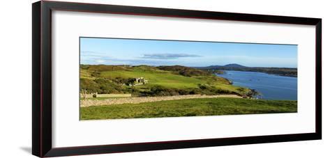 Castle on a Hill, Clifden Castle, Clifden, Connemara, County Galway, Republic of Ireland--Framed Art Print
