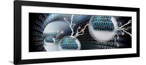 Digital Balls in Vortex--Framed Art Print