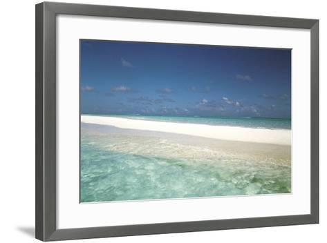 Beach Scene, Shallow Water and Water's Edge--Framed Art Print