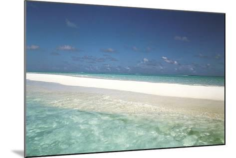 Beach Scene, Shallow Water and Water's Edge--Mounted Photographic Print