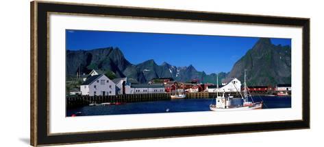 Harbor and Boats Hamnoey Lofoten Norway--Framed Art Print