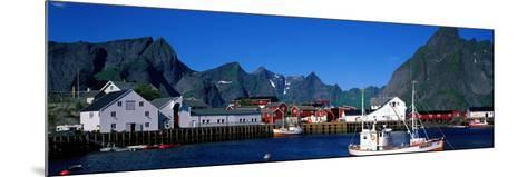 Harbor and Boats Hamnoey Lofoten Norway--Mounted Photographic Print