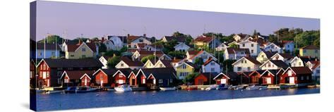 Fishing Village on the West Coast Fiskebaeckskil Sweden--Stretched Canvas Print