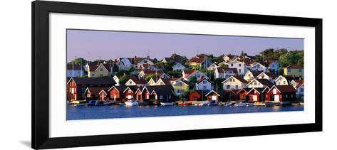 Fishing Village on the West Coast Fiskebaeckskil Sweden--Framed Art Print