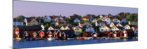 Fishing Village on the West Coast Fiskebaeckskil Sweden--Mounted Photographic Print