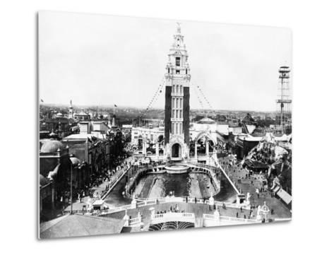 Aerial View of Dreamland Amusement Park at Coney Island--Metal Print