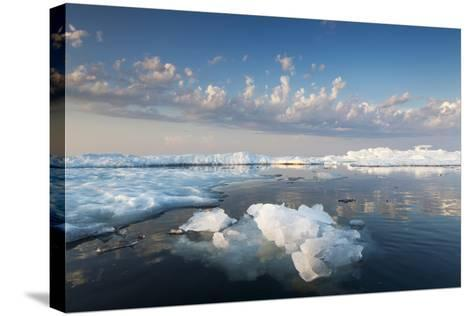 Melting Sea Ice at Sunset, Hudson Bay, Canada-Paul Souders-Stretched Canvas Print