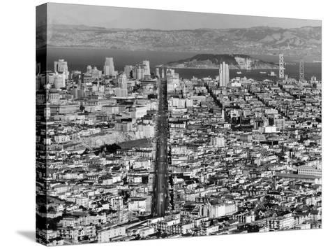 Aerial View of San Francisco--Stretched Canvas Print