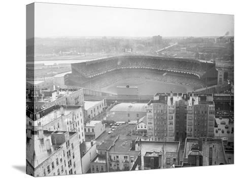 Aerial View of Yankee Stadium--Stretched Canvas Print