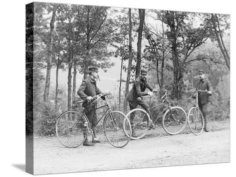 Bicyclists in Central Park--Stretched Canvas Print
