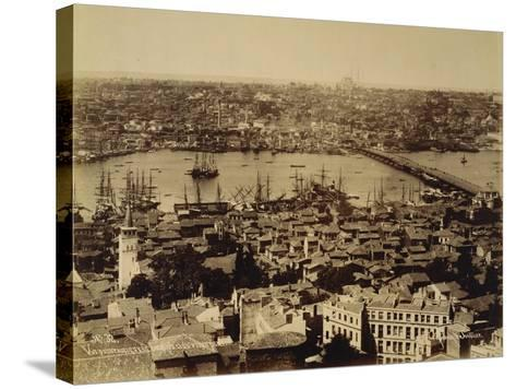 Aerial View of a Bridge over the Bosporus in Istanbul--Stretched Canvas Print