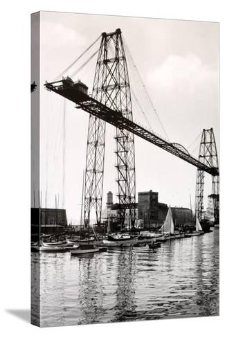 Marseille Transporter Bridge or Pont Transbordeur (C. 1940)--Stretched Canvas Print