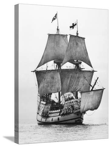 Replica of Mayflower Sailing--Stretched Canvas Print